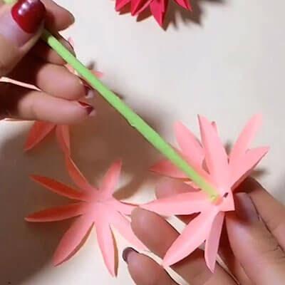 3D paper flower bouquet 6