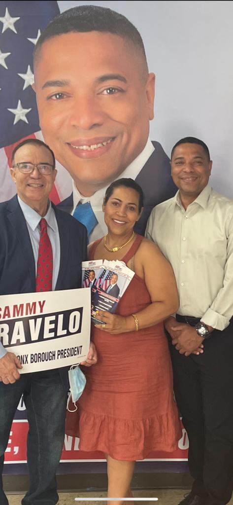 En presidente de partido democrático Participativo Dominicano PDPD. Héctor B Germosen y Joy Dacosta