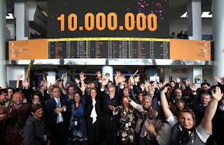 L'aeroporto di Napoli festeggia i 10 milioni di passeggeri in un anno