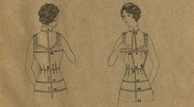 Как снять мерки для шитья корсета