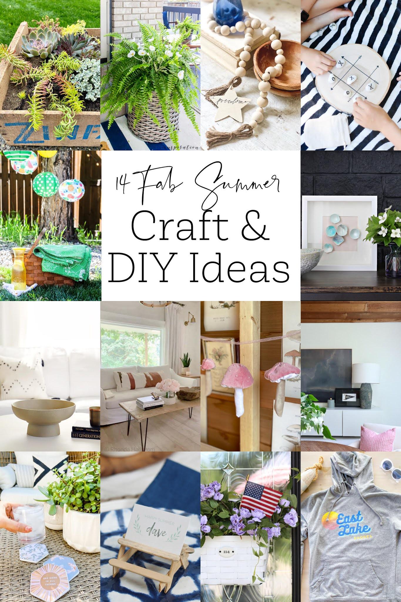 summer diy ideas, summer craft ideas, diy crafts for summer
