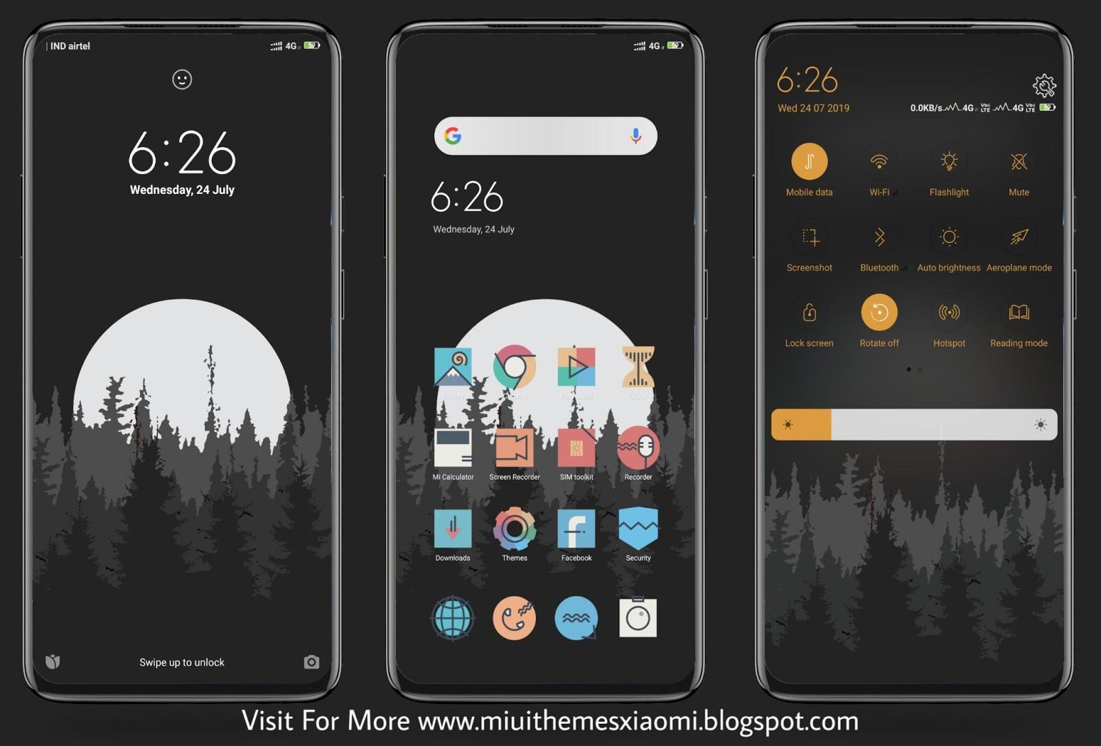 Dark Night Mode MIUI Theme Download For Xiaomi Mobile || MIUI Themes