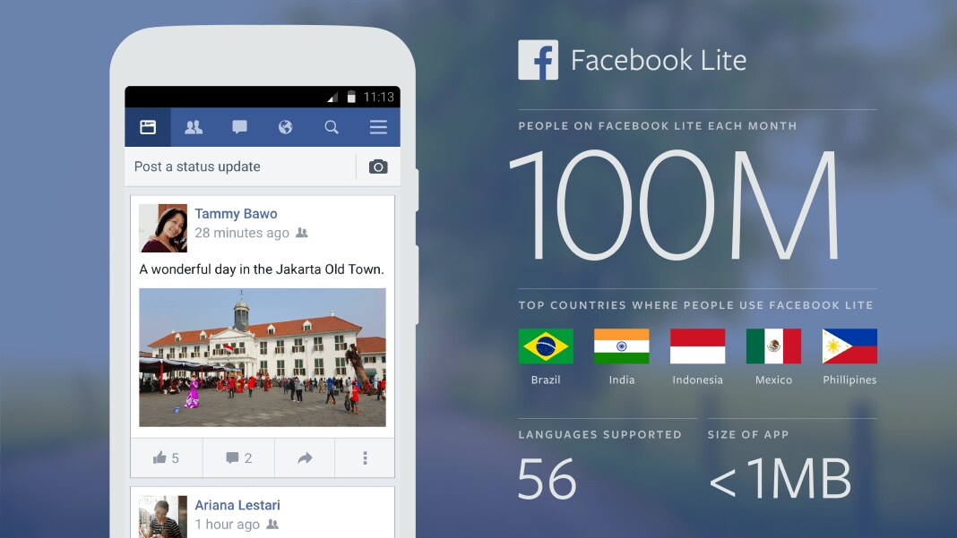 Facebook Lite download available for Apple iPhones, iPad and Mac
