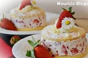 como hacer un pastel de fresas con crema receta