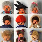 kiki Monchhichi collection fan vintage
