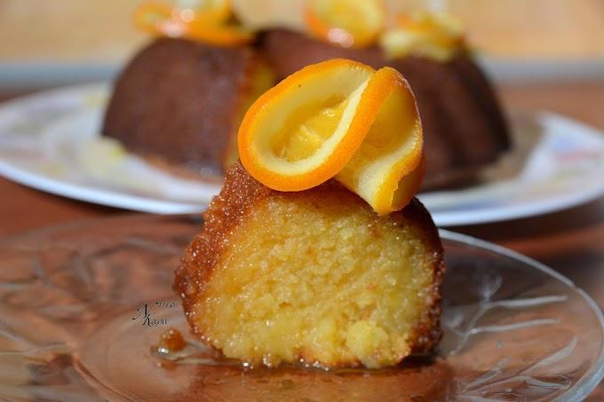 Σιροπιαστή πορτοκαλόπιτα