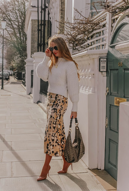 H&M fashion blog spring style slip skirt