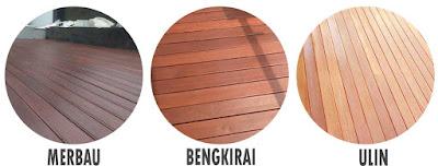 decking kayu makassar