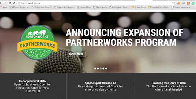HortonWorks Website