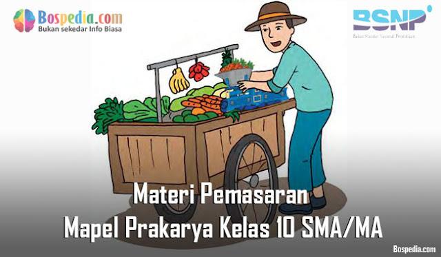 Materi Pemasaran Mapel Prakarya Kelas 10 SMA/MA
