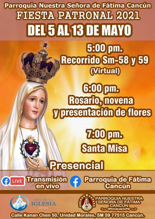 Fiesta patronal Parroquia de Fátima Cancún 2021