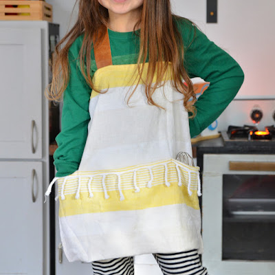 how to sew a tea towel apron for kids