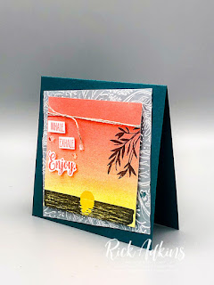 Learn how to create the perfect sunset card background for your card making needs.  Rick Adkins Independent Stampin' Up! Demonstrator