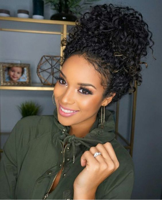 Bun Updo Hairstyles For Black Women