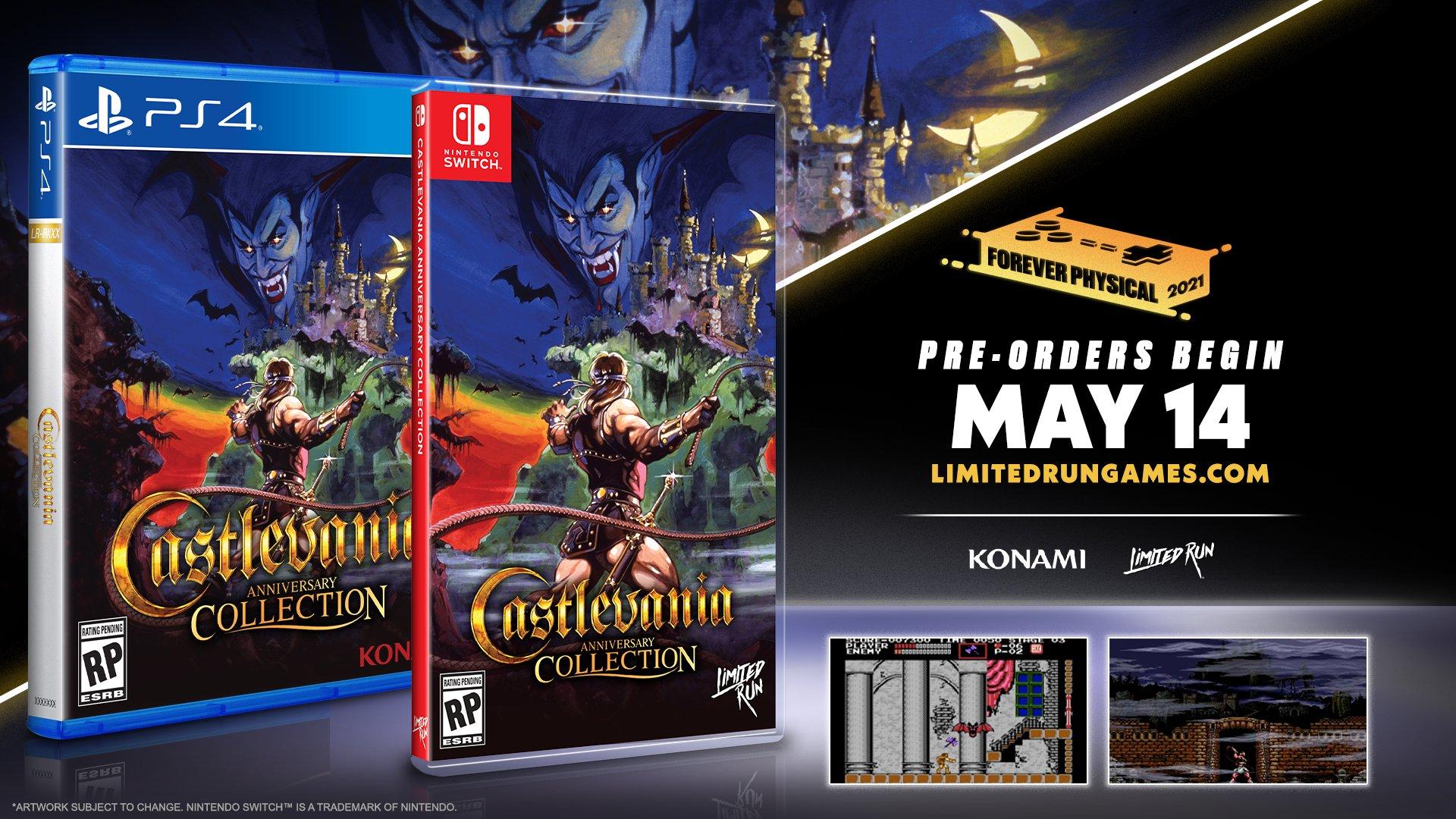 Castlevania Anniversary Collection (Switch) ganhará lançamento físico em quatro edições