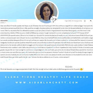 "Riduzione sintomatica vulvodinia: Alessandra, ""Dal 70 al 90%!!!"" 09 gennaio 2020  | Elena Tione Healthy Life Coach"