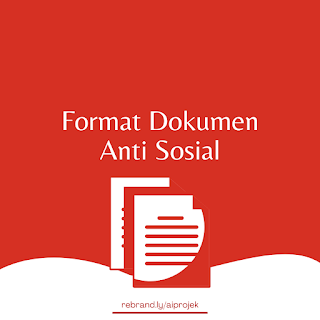 cover Format Dokumen Anti Sosial