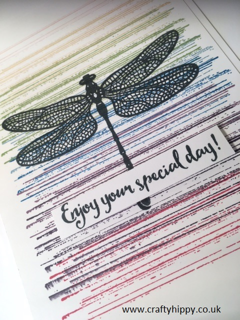 Dragonfly Dreams Rainbow Card, Stampin' Up!
