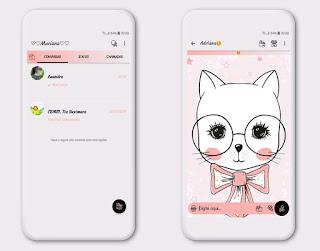 Cute Cat Theme For YOWhatsApp & Fouad WhatsApp By Mary Silva