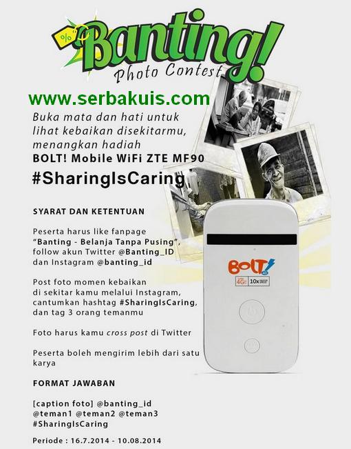 Kontes Foto Instagram Berhadiah Modem Bolt 4G LTE