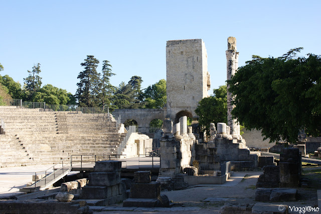 Interno del Teatro Romano patrimonio UNESCO