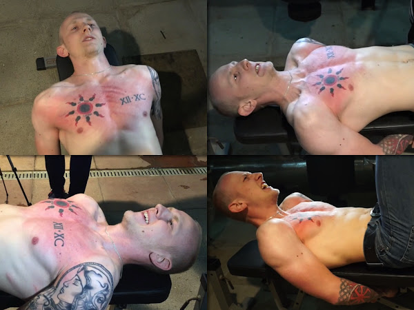 #RusStraightGuys - Chest and torso whipping for muscular Dimon 22 y.o.