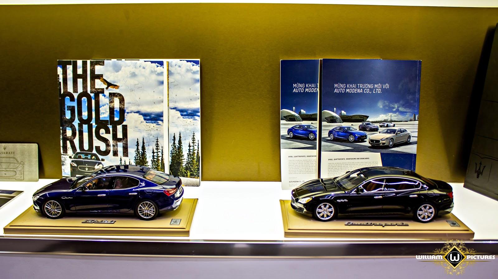 Mô hình chân thực của các dòng xe Maserati thời hiện đại