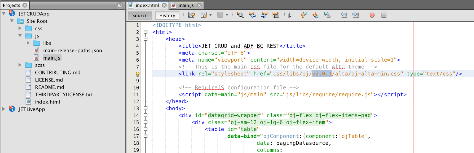 Andrejus Baranovskis Blog: Oracle JET 2 0 1 - Upgrade for CRUD Sample