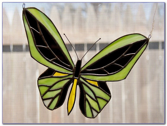 Best Stained GLASS Butterfly WINDOW Ornament for sale
