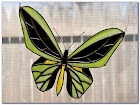 Stained GLASS Butterfly WINDOW Ornament