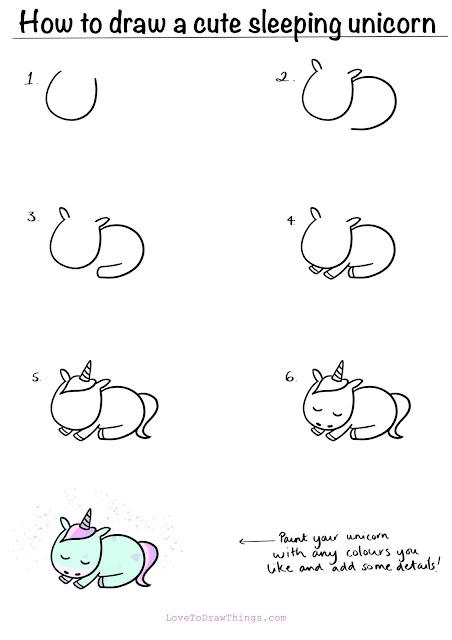 Easy things to draw. Cute easy things to draw. Cute unicorn