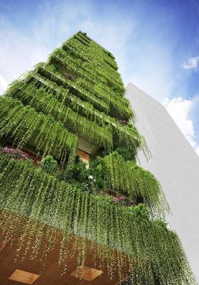 taman vertikal - green facade