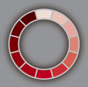 The Color Wheel Translated Into An Example Of Monochromatic Colors