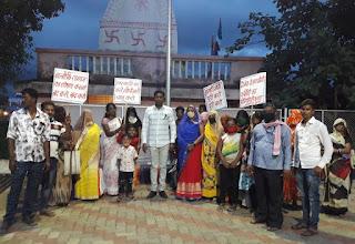 मुख्यमंत्री को वाल्मीकि संगठन द्वारा निगम आयुक्त भुमरकर का तबादला करने सहित अन्य मांगो को लेकर सोपा ज्ञापन