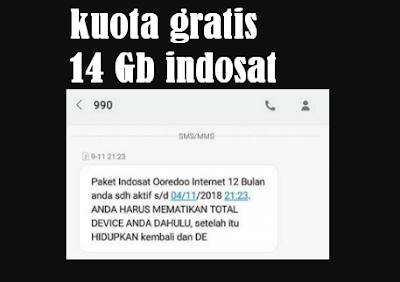 Cara Mendapatkan Kuota Gratis Indosat 14 Gb Terbaru 2017