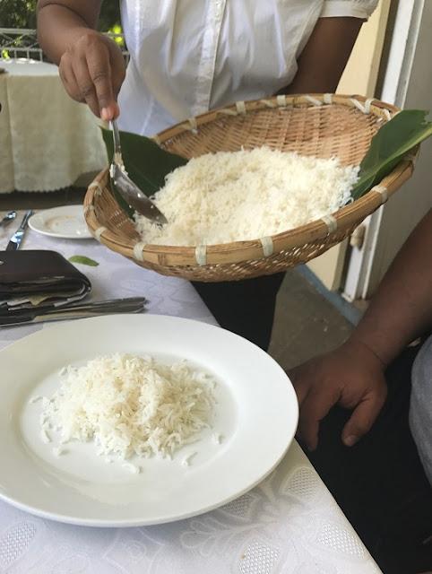 Maison Eureka, Mauritius, rice