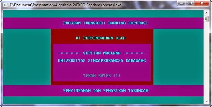 Project Akhir Sistem Informasi Koperasi Pascal Halaman Utama