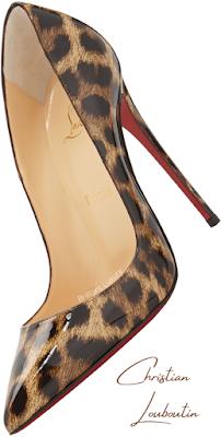 Christian Louboutin So Kate patent leopard pumps #brilliantluxury