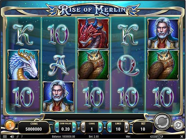 Main Gratis Slot Indonesia - Rise of Merlin (Play N Go)