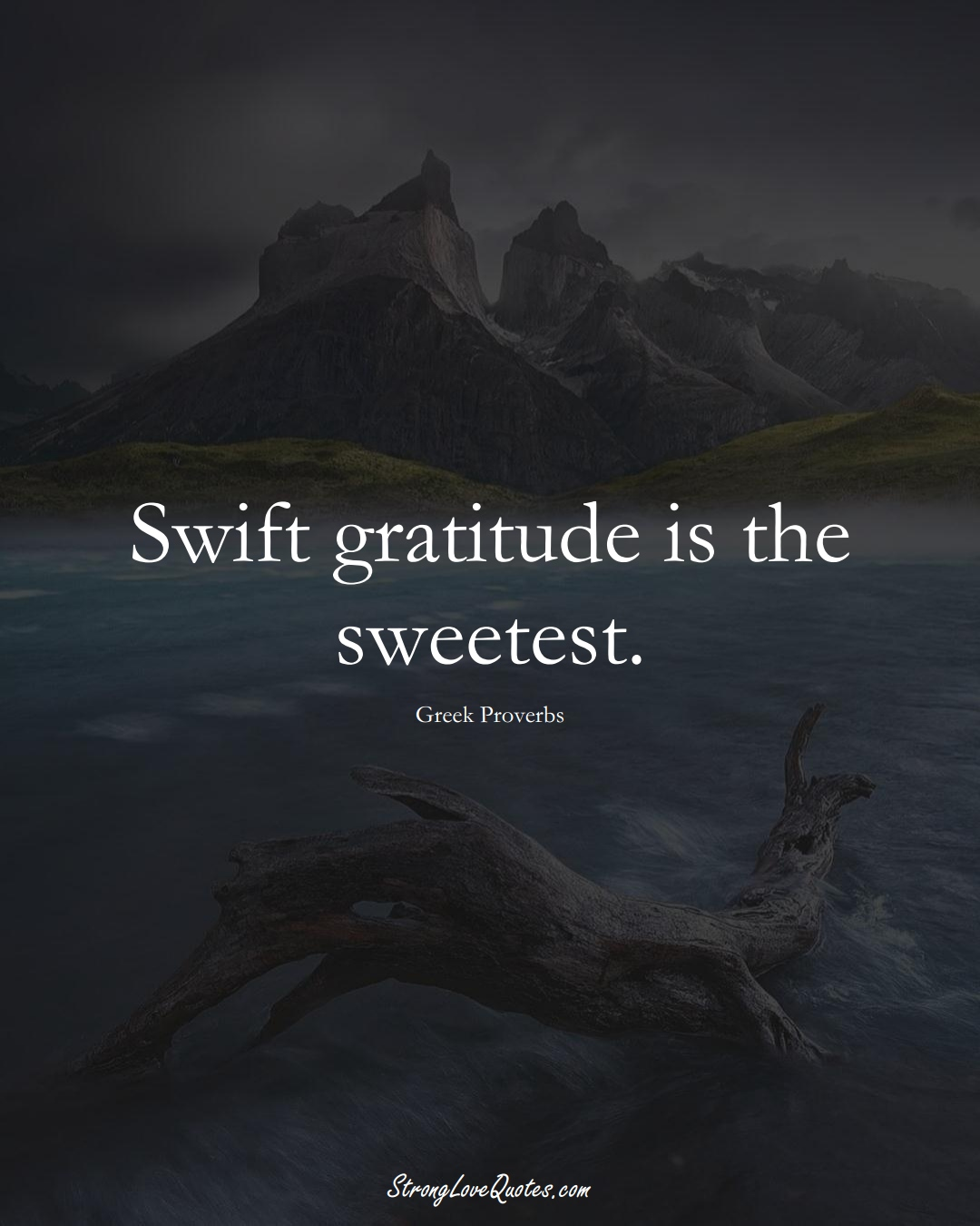 Swift gratitude is the sweetest. (Greek Sayings);  #EuropeanSayings