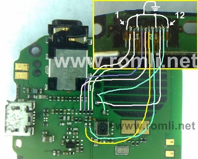 Trik jumper jalur LCD Nokia C1-01