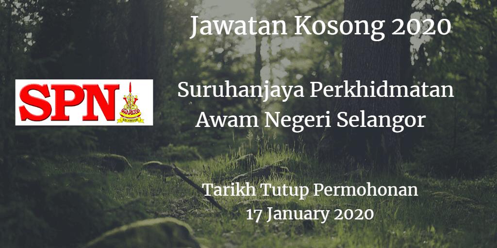 Jawatan Kosong SPN Selangor 17 January 2020