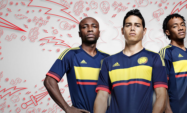 aabc5eb00 Colombia 2015 Copa América Kits Revealed - Footy Headlines