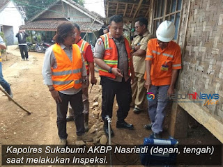 Kapolres Sukabumi saat Inpeksi blasting
