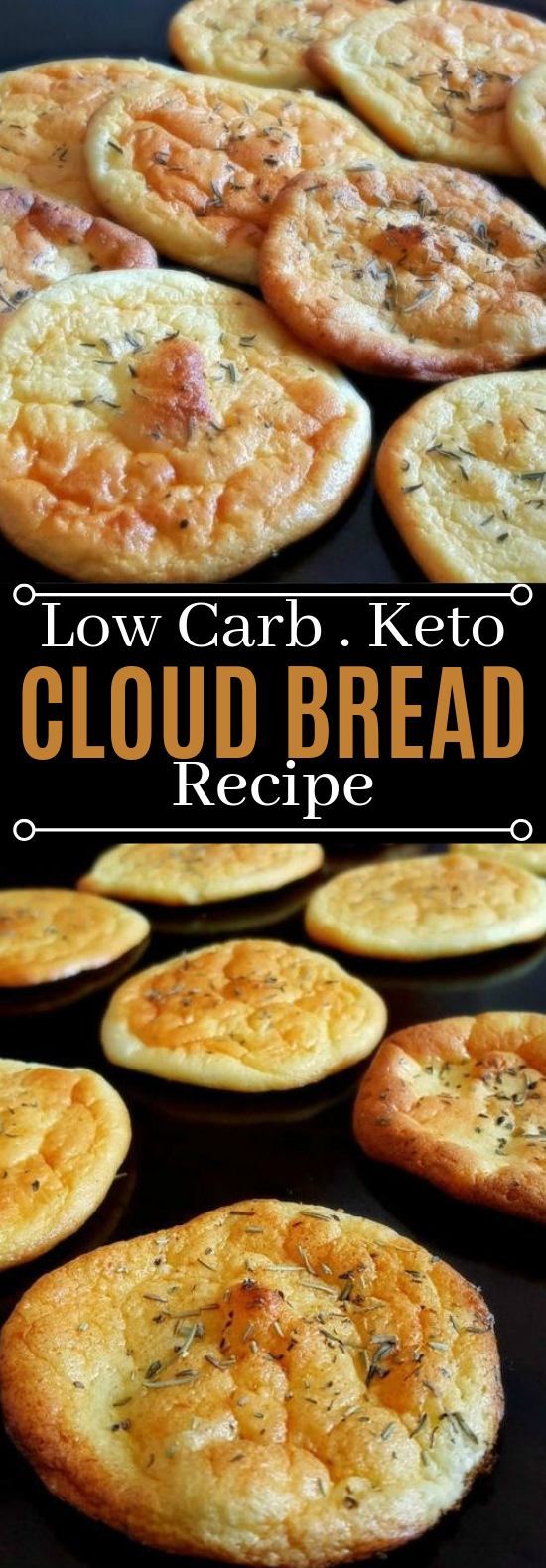 No-Carb Cloud Bread with Only 4 Ingredients #healthy #keto