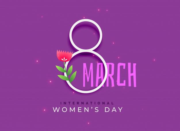 Happy international women's day background Free Vector