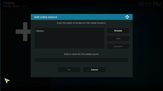 menambah file media di kodi