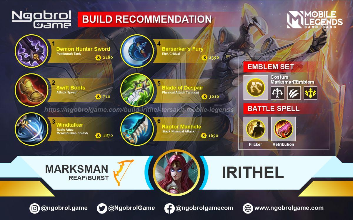Build Irithel Tersakit 2021 Mobile Legends