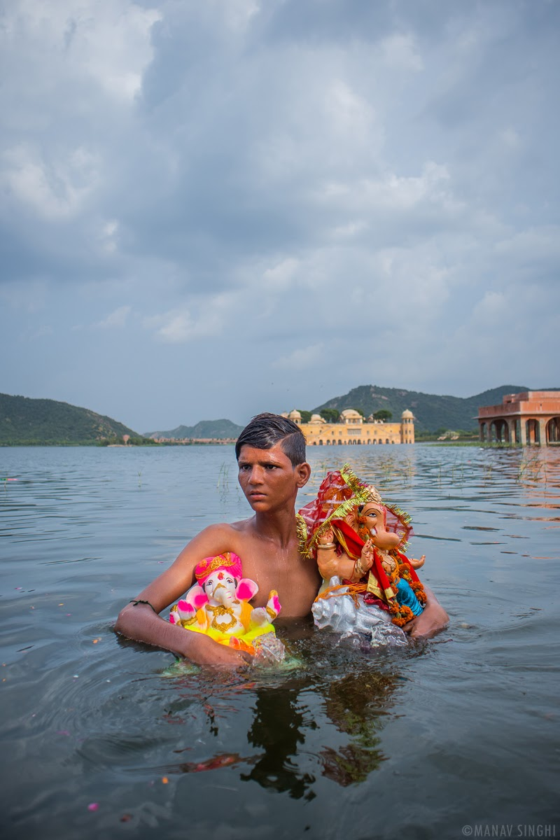 Ganesh Chaturthi Puja from idol Making to Ganesh Visarjan (immersing him in water) Jaipur Rajasthan
