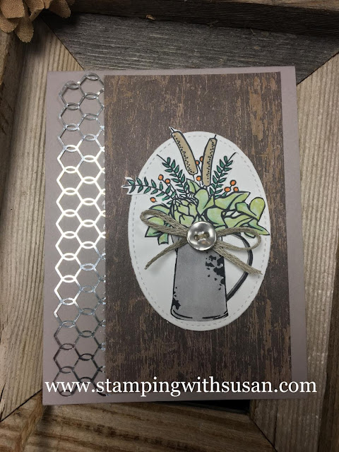 Stampin' Up!, Country Lane Suite, Chicken Wire Elements, www.stampingwithsusan.com